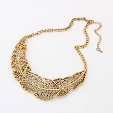 new necklace styles images Famshin latest styles contract undermine leaves necklace metal jpg