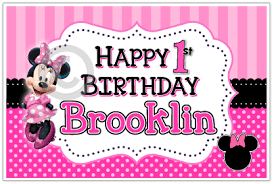 minnie mouse dot personalized posters