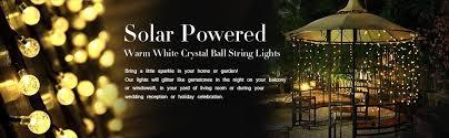 Solar Lighting For Gardens by Amazon Com Solar Globe String Lights Innoo Tech Outdoor 19 7 Ft