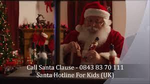 santa claus phone call call santa hotline now uk number youtube