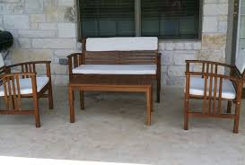 Wood Patio Chairs by Patio Furniture Restoration Gusto U0026 Grace