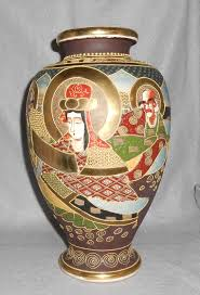 Antique Hand Painted Vases Antique Japanese Moriage Kyoto Satsuma Porcelain Vase Signed