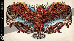 phoenix chest tattoo by sam phillips nz on deviantart