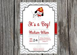 fire truck baby shower invitations invitation wording for party