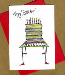 Book Birthday Card Novel Birthday Card For Book Lovers From Fast Snail Greetings And