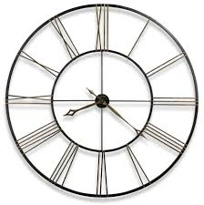 Howard Miller Large Wrought Iron Aged Black Wall Clock 625406 Postema
