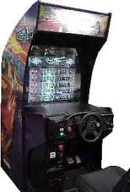 sit down arcade cabinet cruis n world videogame by midway games