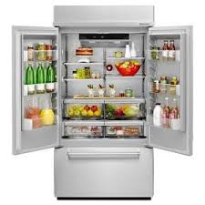Home Depot French Door - kitchenaid 42 in w 24 2 cu ft built in french door refrigerator