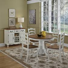 home styles 5 piece black u0026 cottage oak dining set hayneedle