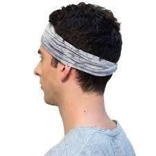 mens headband enso batik steel grey headband for men top mens