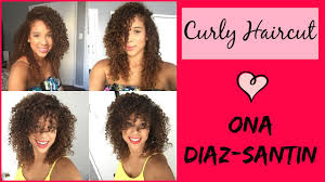 curly haircut by ona santin youtube