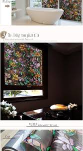 Window Decor Film Tint Flower Decorative Window Privacy Films 40x100cm Bathroom