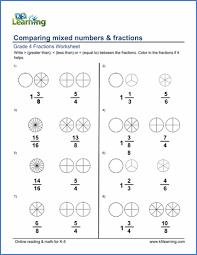 grade 4 fractions worksheets free u0026 printable k5 learning