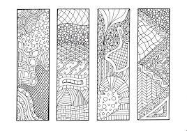 zendoodle printable bookmarks diy zentangle inspired coloring
