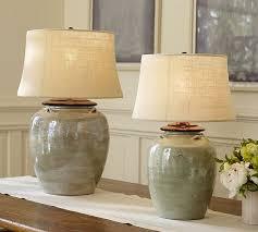 Small Blue Desk Lamp Courtney Ceramic Table Lamp Base Blue Pottery Barn