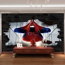 Superhero Home Decor Aliexpress Com Buy 3d Photo Wallpaper Spider Man Wall Mural