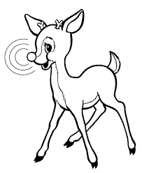 rudolph red nosed reindeer coloring color luna
