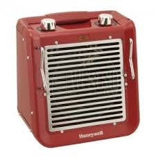 space heater and fan combo honeywell hz 2120 pro series all metal utility heater fan combo red