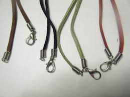 necklace cord with clasp images 2 x 20 inch suede leather string cord necklace with clasp jpg