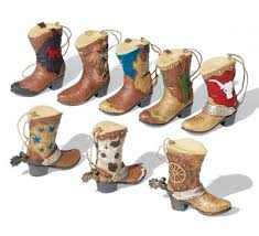 collectible western cowboy boots ornament set western