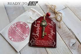 santa s magic key wood tag santa key key