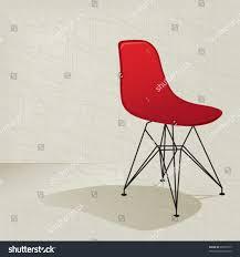 Mid Century Modern Plastic Chairs Swanky Retro Red Plastic Midcentury Modern Stock Vector 28607275
