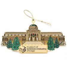 msi giftshop msi chicago gold ornament