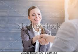 business greeting arriving business stock photo 562691893