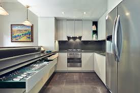cuisine avec frigo americain cuisine en u ouverte pour tout espace 60 photos et conseils