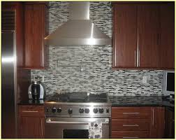 black glass mosaic tile backsplash home design ideas