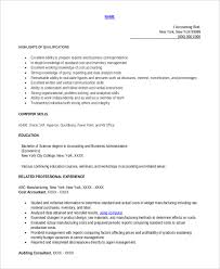 Fresher Accountant Resume Sample by Printable Accountant Resume Templates 28 Free Word Pdf