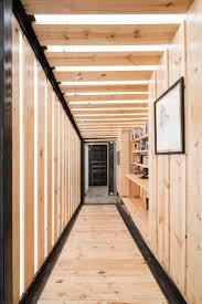 maison en bois interieur bardage métallique façade vitrée et design moderne u2013maison en