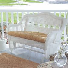 Wicker Loveseat Patio Furniture - coral coast casco bay resin wicker outdoor glider loveseat
