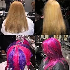 the latest hair colour techniques pinwheel block color lightener hair color block color ink