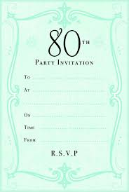80th birthday invitation templates 80th birthday invitation