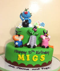 oggy cockroaches cake kiddie affairs custom cakes