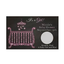 baby shower scratch personalized chalkboard design baby shower scratch pink