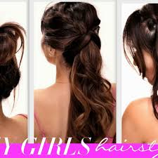 hairstyles for long hair at home videos youtube longirstyles stunning cute simple forir your ideas with professional