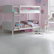 White Wooden Bunk Bed Wooden Bunk Bed Childrens White 3ft Single Rosa With Mattress