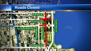 Chicago Map Downtown by Taste Of Chicago Road Closures Begin Downtown Abc7chicago Com