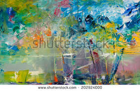 abstract colorful oil painting on canvas stock photo 129236510