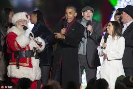 us president obama attends 2016 national christmas tree ceremony