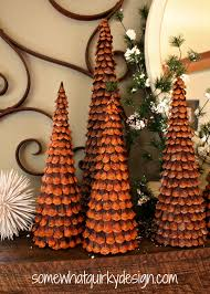 Christmas Tree Books by Somewhat Quirky Pine Cone Christmas Trees