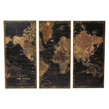 Home Decor Set by Aspire Home Accents Stanford World Map Wall Decor Set Of 3