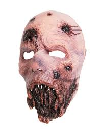 walking dead jawless walker half mask u2013 spirit halloween evil