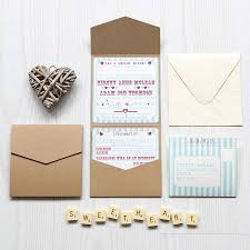 pocket fold pocketfold wedding invitation heart funfair by lovely jubbly