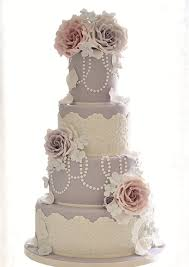 beautiful bridal lace fondant wedding cakes