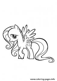 pony fluttershy coloring pages printable