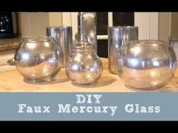 How To Make A Mercury Glass Vase Diy Faux Mercury Glass Youtube