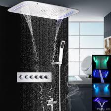 2017 bathroom shower set concealed rain shower set thermostatic